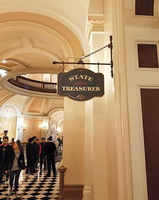 State Treasurer's Office Sign
