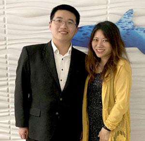 Peter Xu with Treasurer Ma
